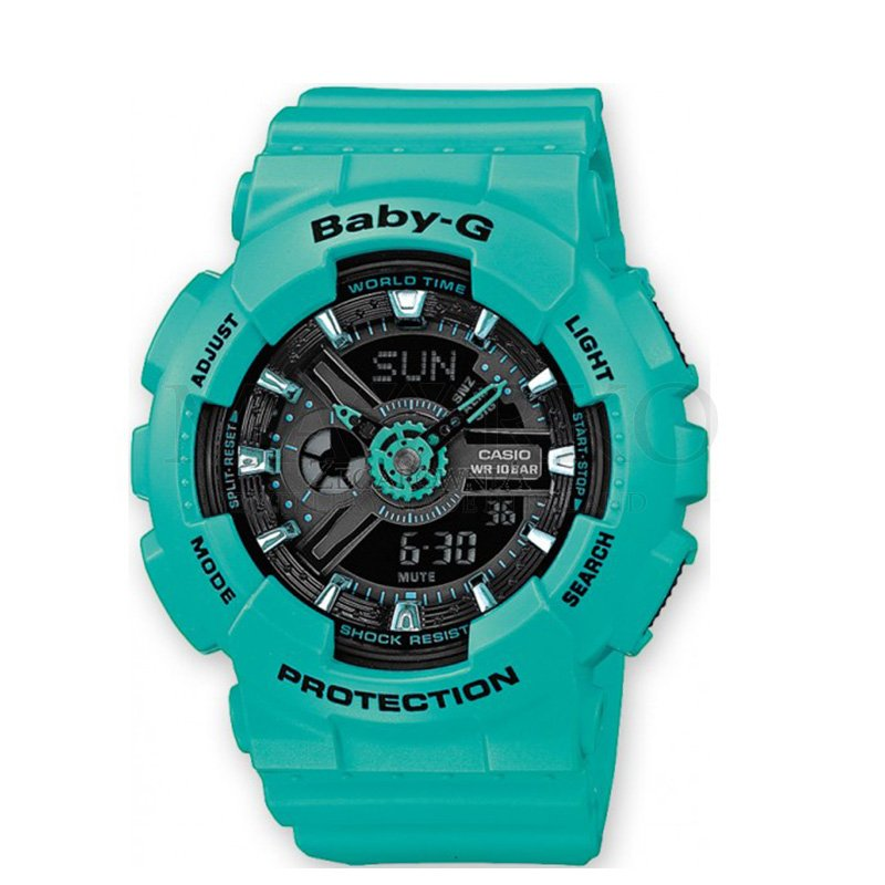 zegarek dla chłopca - zielony Casio