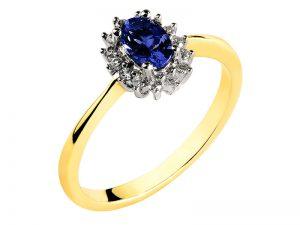 pierścionek z szafierm