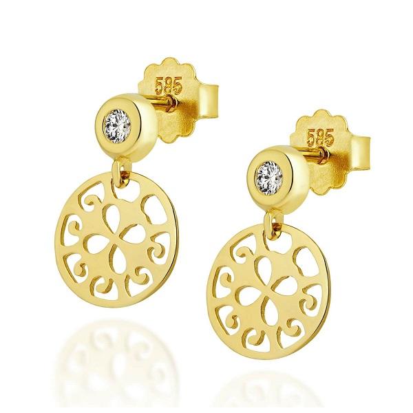 złote kolczyki 585