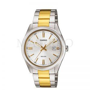 damski zegarek Casio ze złotymi akcentami